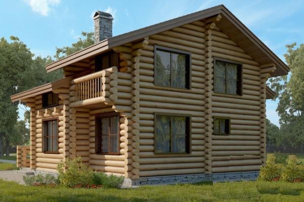 Калиброванное бревно: как красиво покрасить дом снаружи