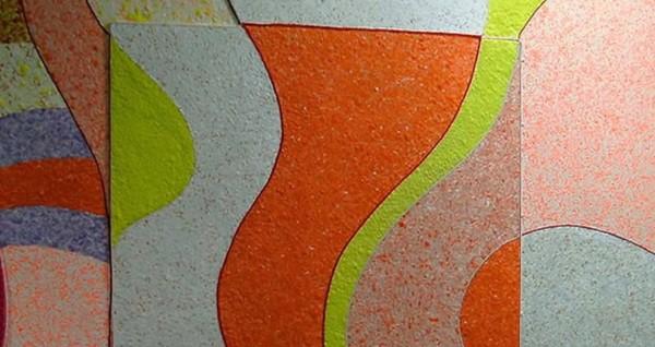 Комбинированный рисунок из жидких обоев