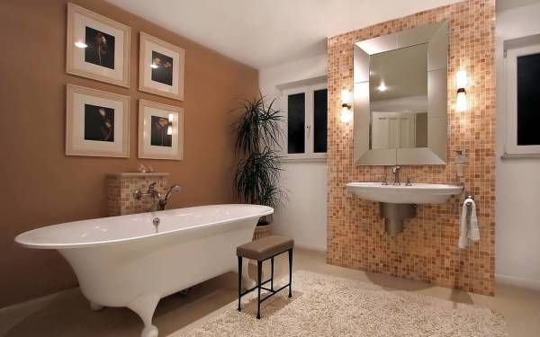 Краска в отделке стен ванной