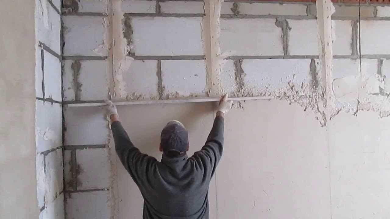 Штукатурка стен раствором своими руками фото