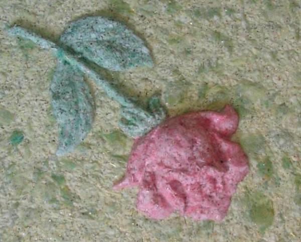 Объёмная роза, сделанная по трафарету