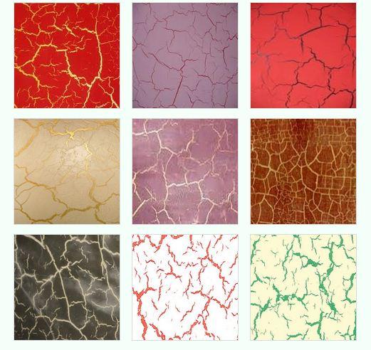 Разнообразие краски с эффектом трещин