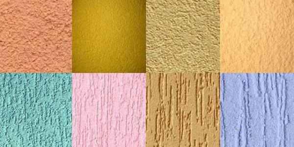 Разнообразие текстур и цветов акриловой штукатурки