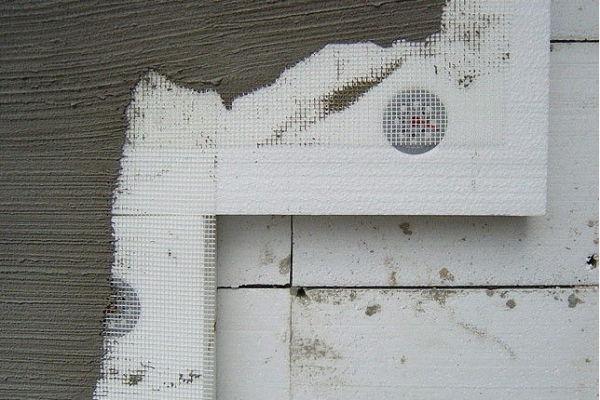 Штукатурка наружных стен по пенопласту