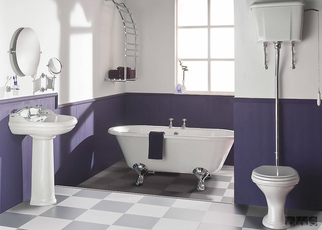 Крашенная ванная комната фото