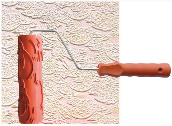 Текстурный валик с резиновой «шубкой»