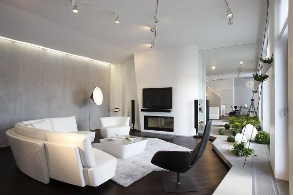Декоративное покрытие одной стены в дизайне помещения
