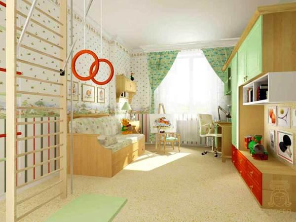 Детская спальня в светлых тонах