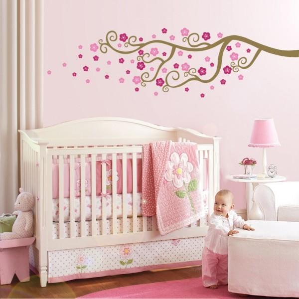 Детская в бело - розовых тонах для девочки