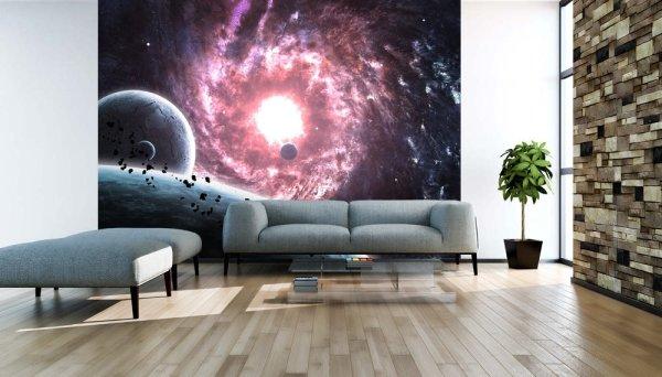 Фото космической воронки в интерьере гостиной