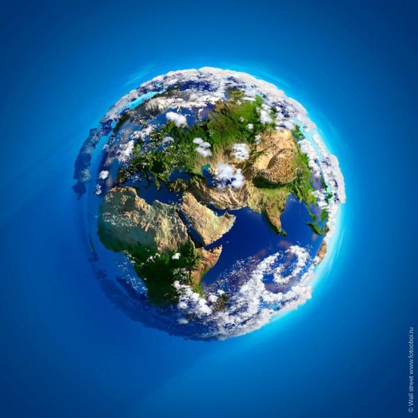 Фотообои с видом на землю из космоса