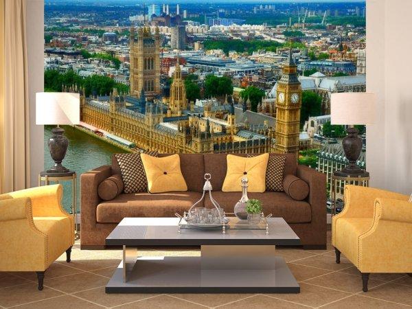 Фотообои в гостиную с панорамным видом на Вестминстерский дворец