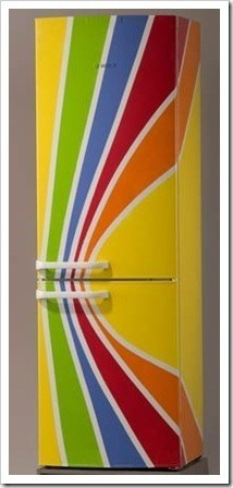 Холодильник после покраски
