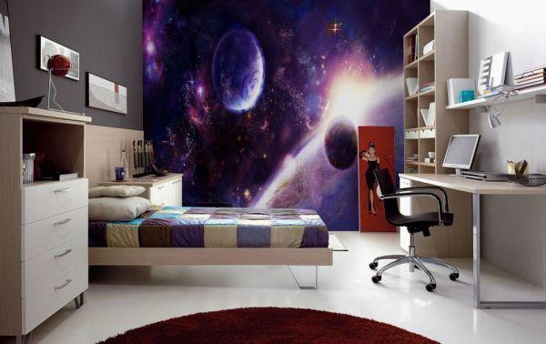 Космическая тематика в спальне