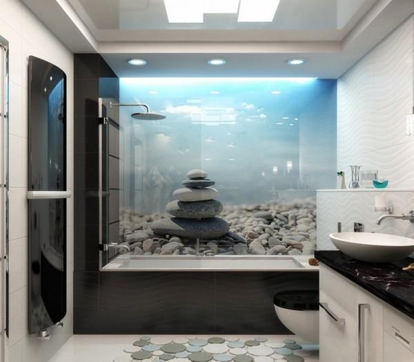 Морское дно в интерьере ванной комнаты