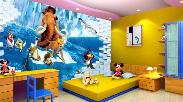 Мультяшные герои в детской комнате