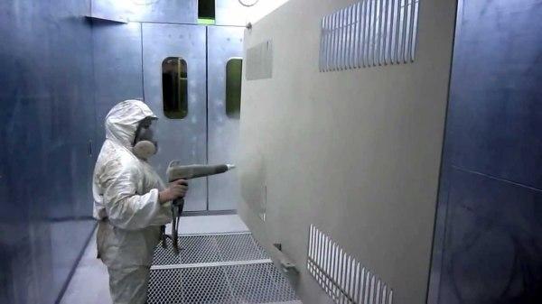 Нанесение краски в заводских условиях