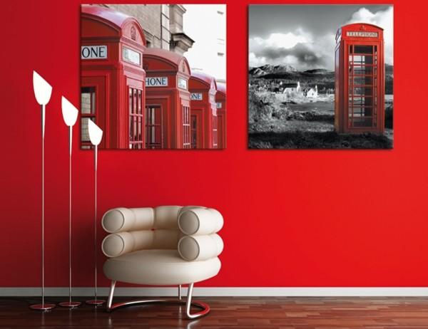 Настенные панно с телефонными красными будками