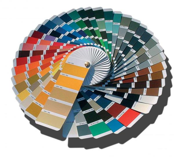 Подбор цвета производится по колеровочному вееру