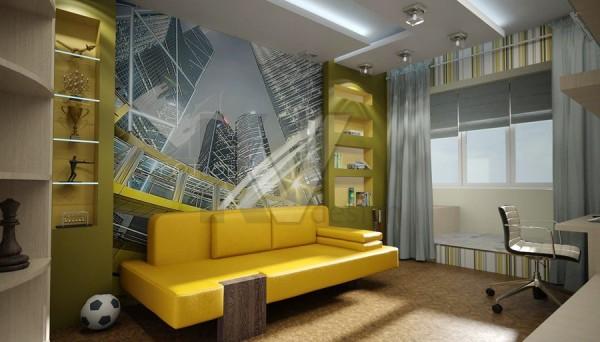 Подростковая спальня в стиле «Урбани»