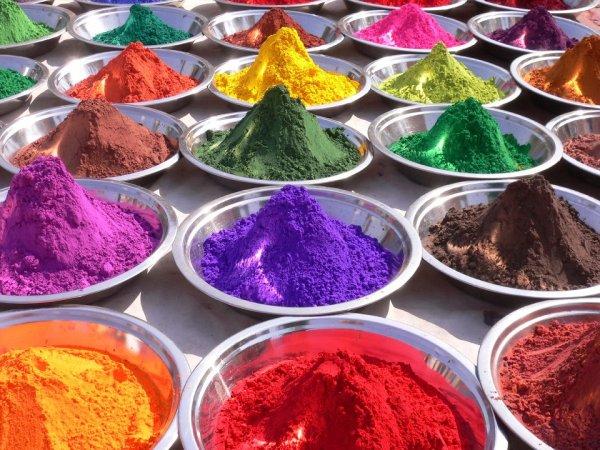 Порошковая краска разных цветов