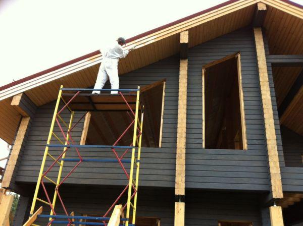 Применение масляной краски для покраски дома