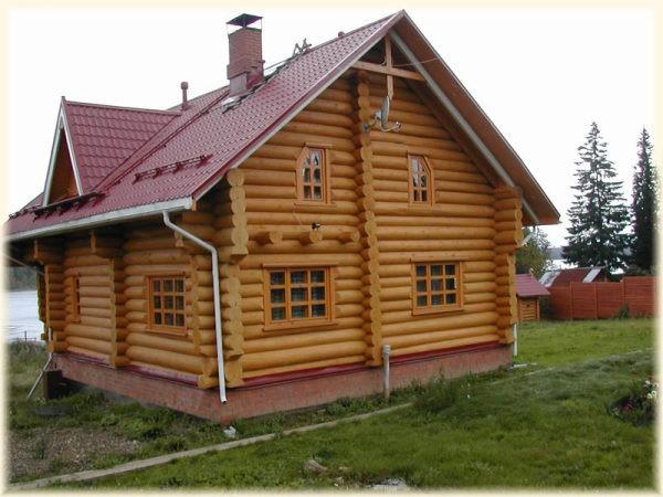 Примеры покраски деревянных домов