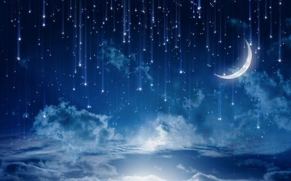 Принт с падающими звёздами