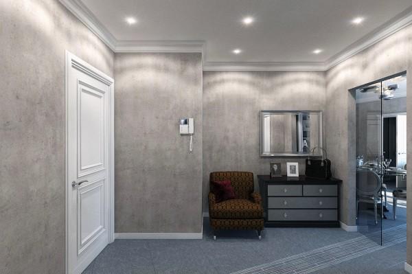 Штукатурка декоративная «Марморино»: дизайн стен прихожей