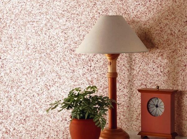 Стены в мозаичной штукатурке
