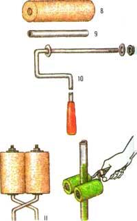 Валик-ножницы для окрашивания труб