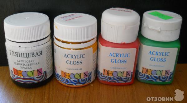 Акриловые краски для пластмассы