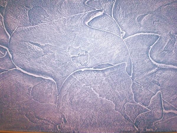Фактурная штукатурка стен декоративная с цветным пигментом