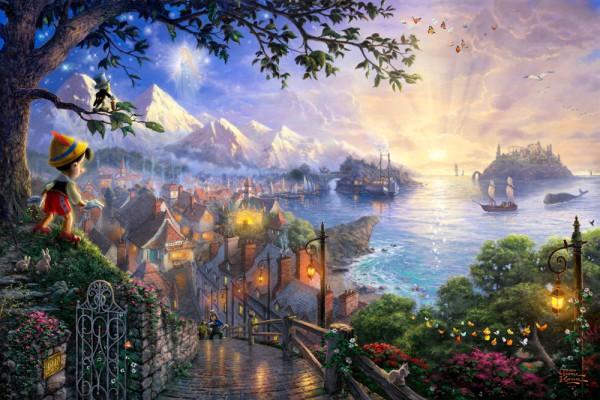 Фотообои с изображением сказочного города для детской комнаты