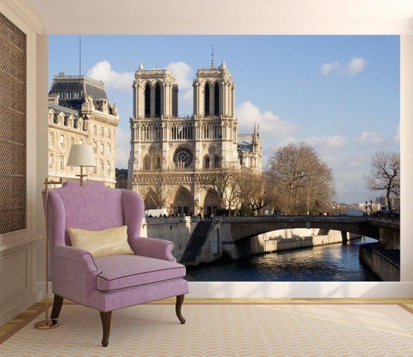 Фотообои с изображением собора парижской богоматери