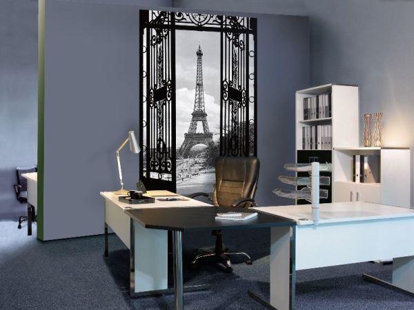 Фотообои с окном в интерьере кабинета