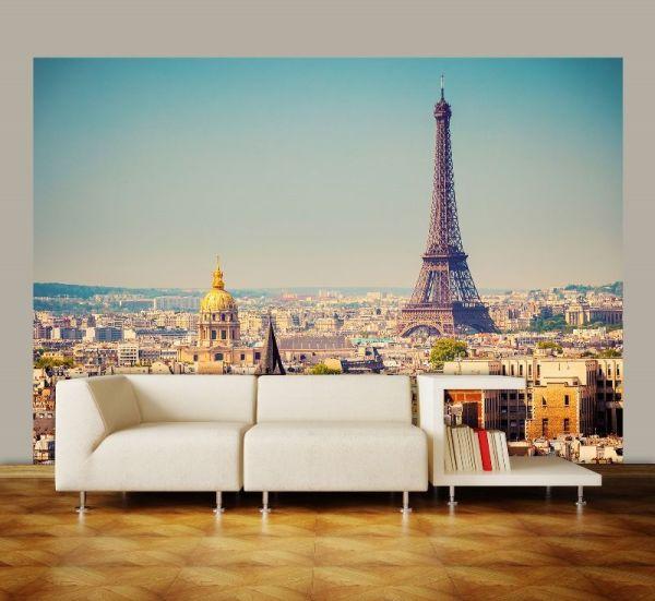 Фотообои с панорамным видом Парижа