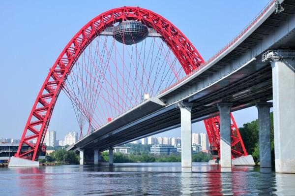 Фотообои с современным Московским мостом