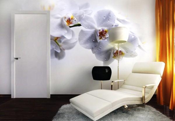 Фотообои «цветы сакуры» в рабочей зоне
