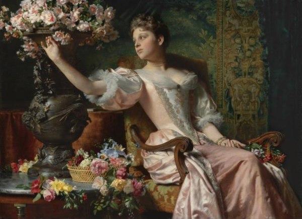 Изображение этой девушки хорошо впишется в стиль барокко