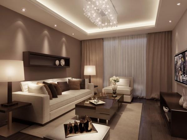 Коричневые тона обоев к светлой и тёмной мебели