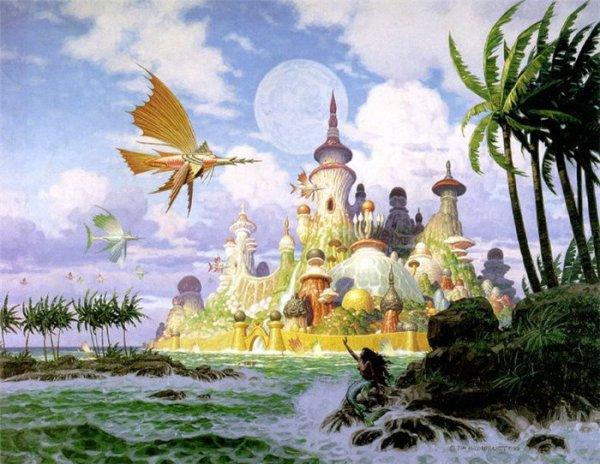 Красочные фотообои со сказочным замком