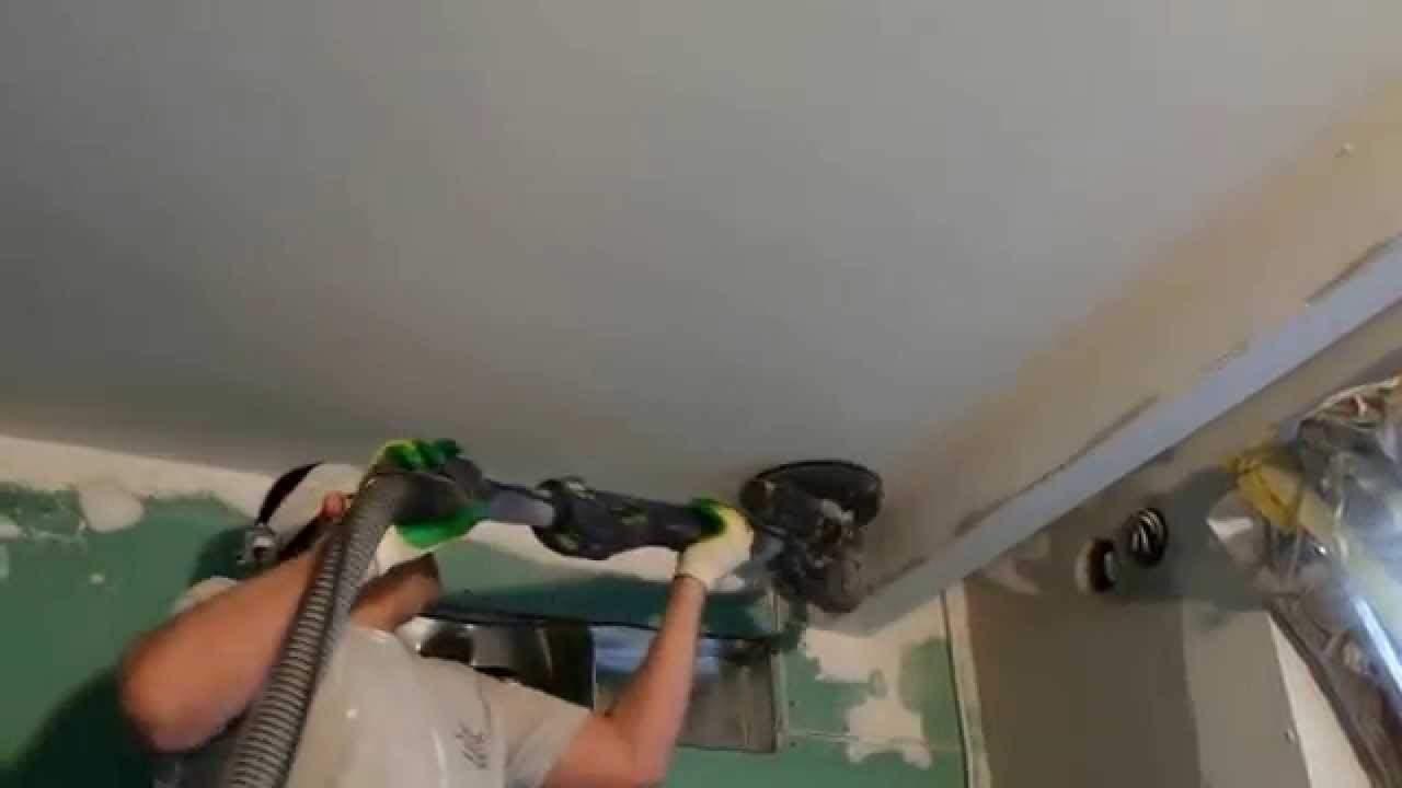 Делаем шлифовку потолка