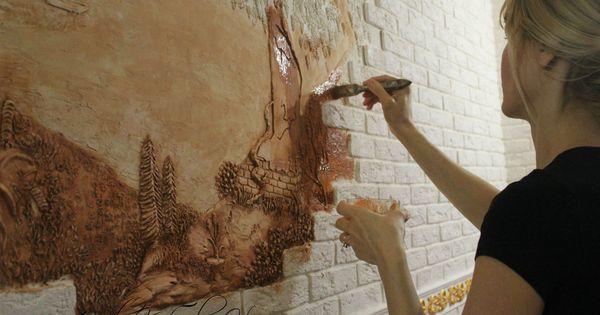 Нанесение краски при помощи кисти