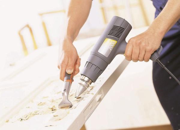 Очистка лака с деревянной поверхности термическим способом