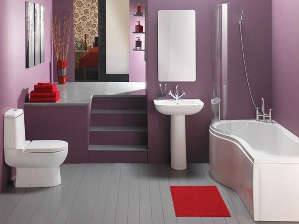 Оригинальное оформление стен в ванной