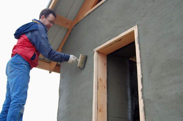 Оштукатуривание фасада