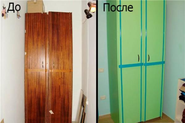 Покраска старого шкафа своими руками