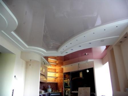 Серый цвет натяжного потолка