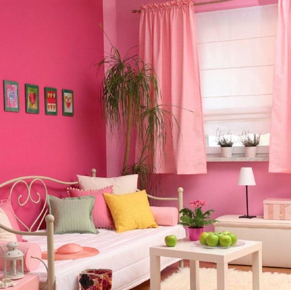 Сочетание ярко-розового и светло-розового цвета